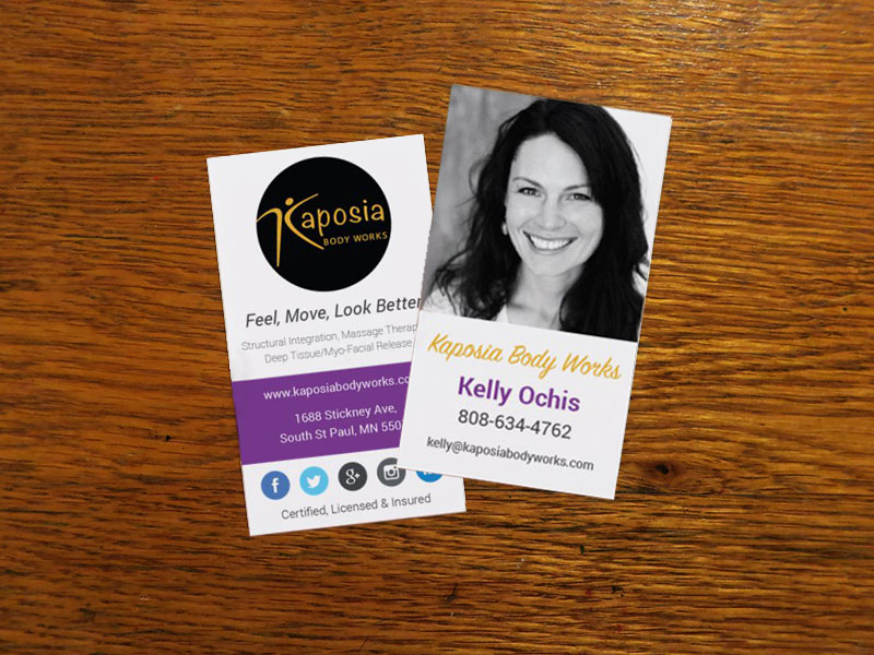 Business card Design for Kaposia Body Works